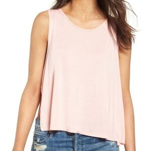 Thieves Like Us blush pink pastel side slit tank